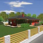 Návrh domu typu Bungalov